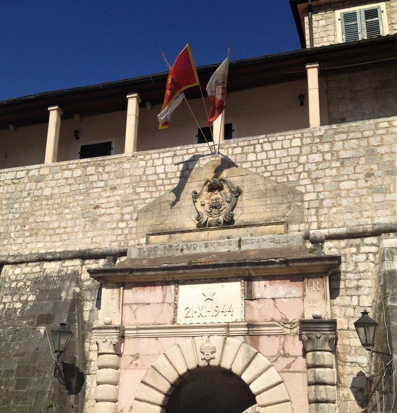 Wejście Kotor stary miasteczko w Montenegro zdjęcia stock