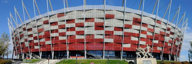 Wejście Krajowy stadium w Warszawa, Polska zdjęcie stock
