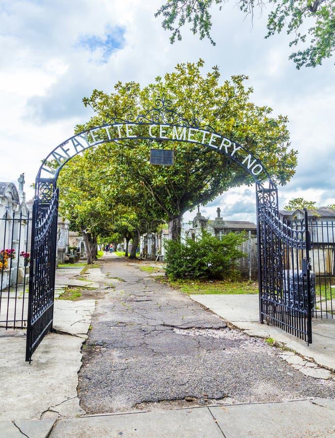 Wejście Lafayette cmentarz w Nowy Orlean obraz royalty free