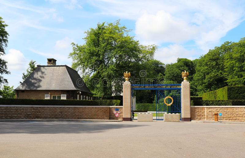 Wejście Luksemburg Amerykański pomnik i cmentarz fotografia stock