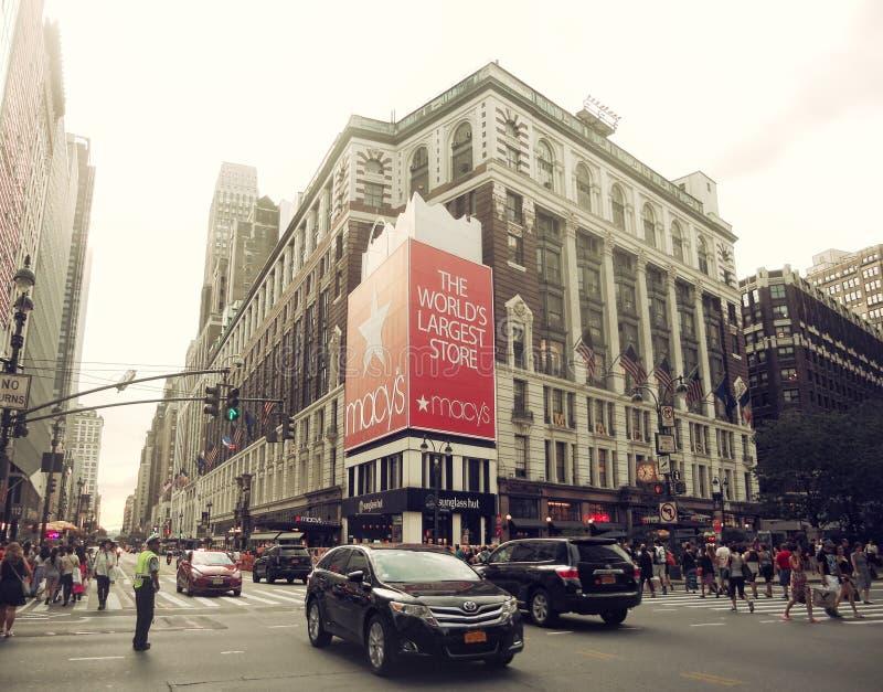 Wejście Macy ` s w Miasto Nowy Jork obrazy royalty free