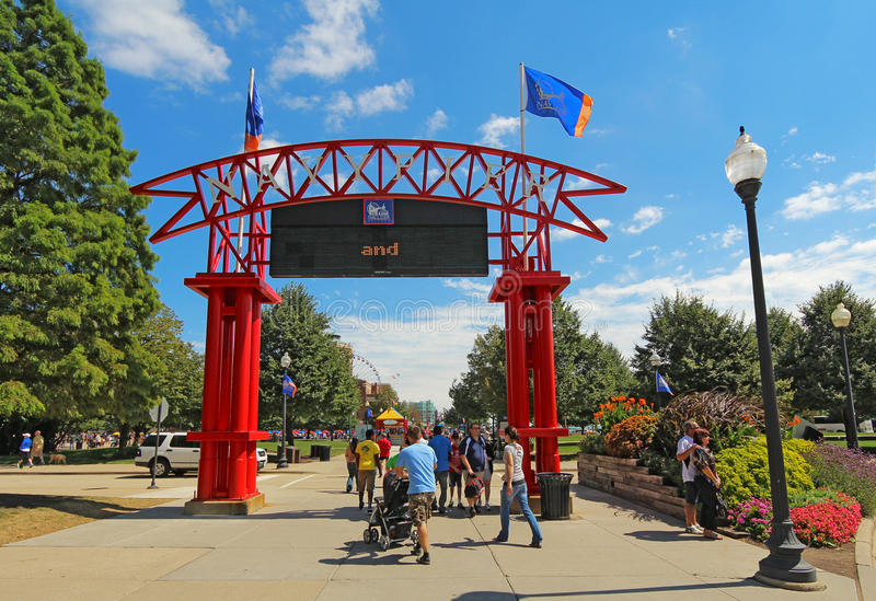 Wejście marynarki wojennej molo w Chicago obrazy royalty free
