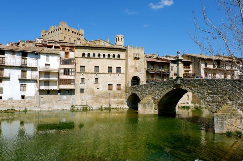 Wejście miasto Valderrobres, prowincja Teruel, Aragon obrazy stock