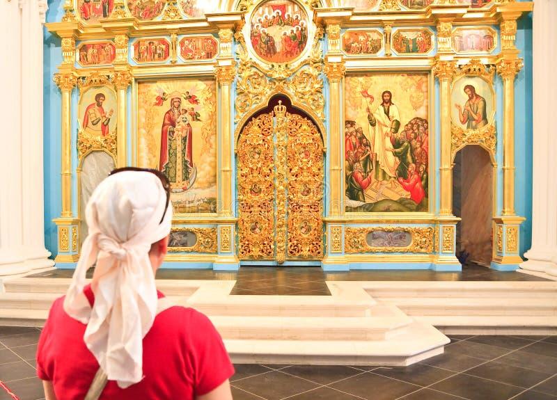 Wejście Nowy Jerozolimski monaster Istra przypuszczenia katedralna dmitrov Kremlin Moscow pocztówkowa regionu Russia zima fotografia stock