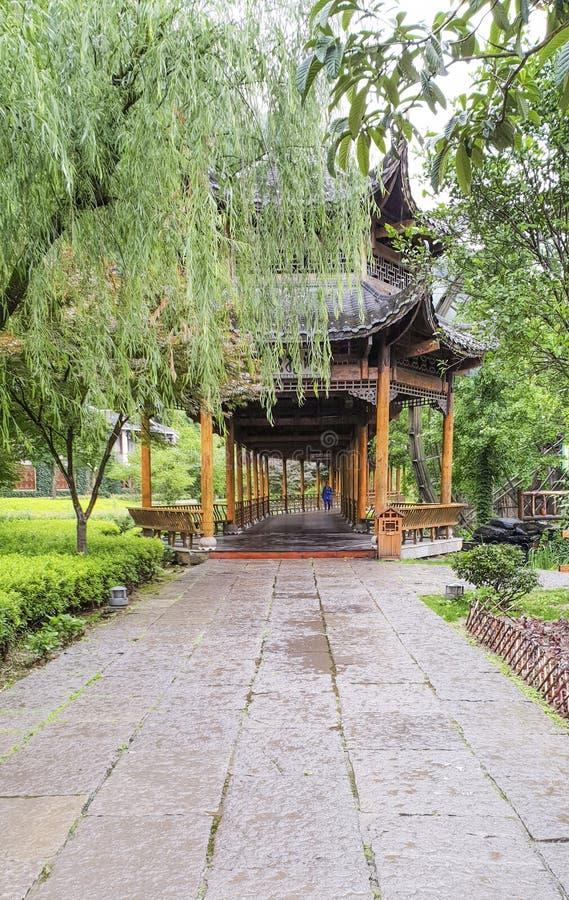 Wejście ogród Żółta smok jama: Cud światowy ` s zawala się przy Zhangjiajie, prowincja hunan, Chiny zdjęcie royalty free