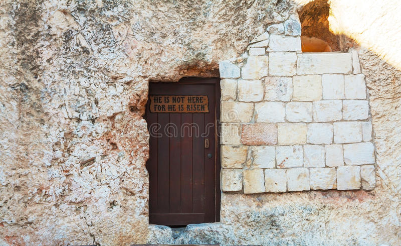 Wejście Ogrodowy grobowiec w Jerozolima obraz royalty free