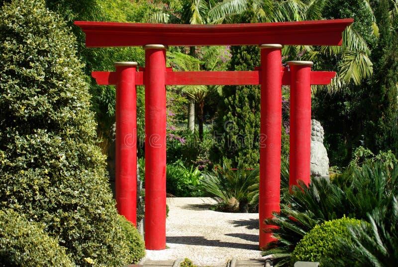 wejście ogrodowych orientalny Madeira zdjęcia stock