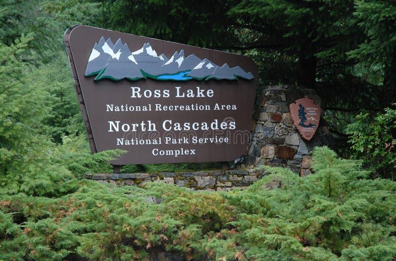 Północ Spada kaskadą park narodowy, usa zdjęcie royalty free