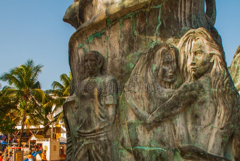 Wejście plaża w playa del carmen, Meksyk Riviera majowie obraz royalty free
