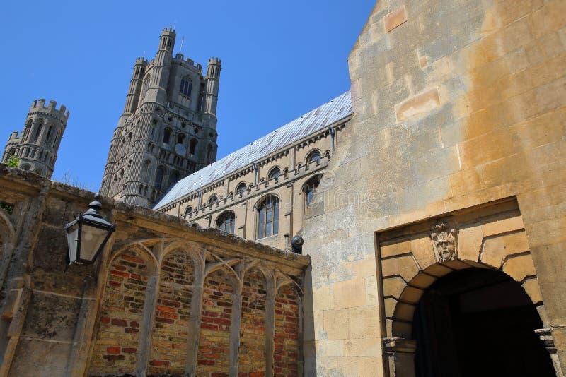 Wejście Południowa część katedra Ely w Cambridgeshire, Norfolk, UK fotografia royalty free