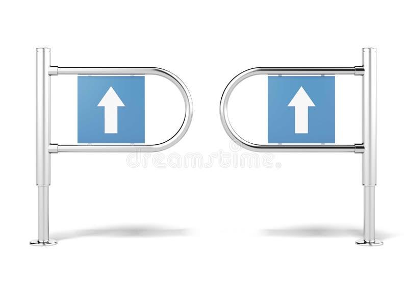 Wejście podpisuje wewnątrz halę targową ilustracji
