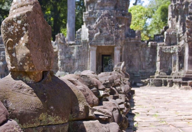 Wejście Preah Khan świątynia obraz royalty free