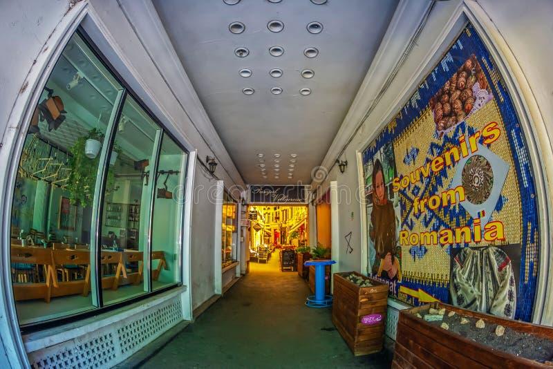 Wejście przejście Macca-Villacrosse, Bucharest, Rumunia obrazy royalty free