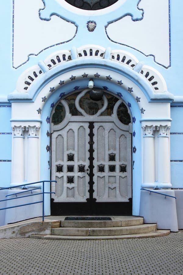 Wejście St Elisabeth kościół, Bratislava obraz stock