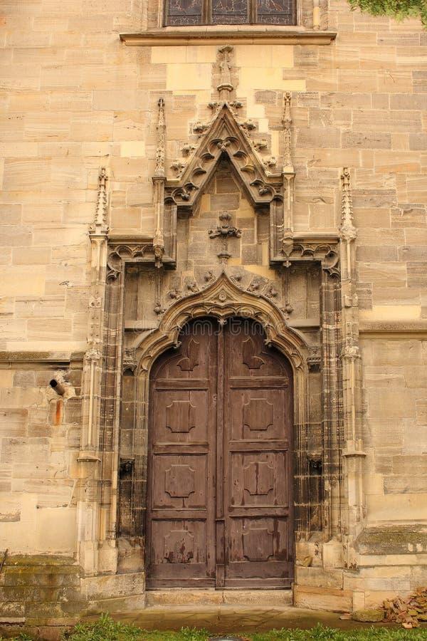 Wejście stary gothic kościół zdjęcia royalty free