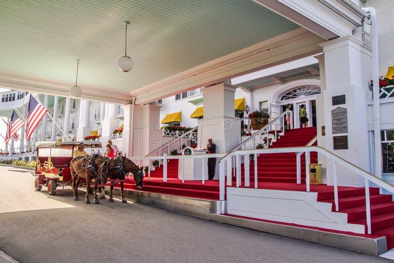 Wejście Uroczysty hotel obraz royalty free