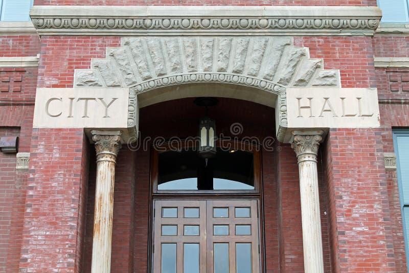 Wejście urząd miasta zdjęcia stock
