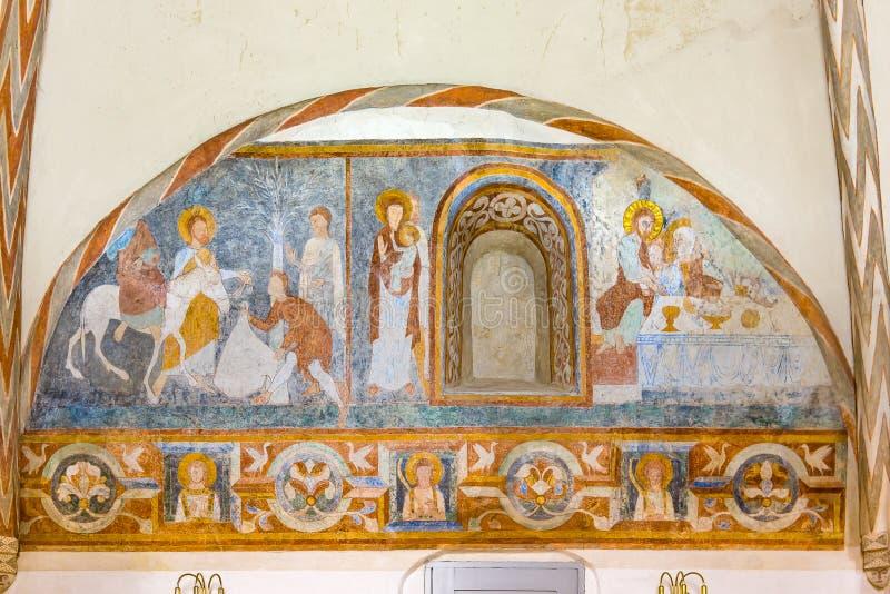 Wejście w Jesusalen i eucharist zdjęcie stock