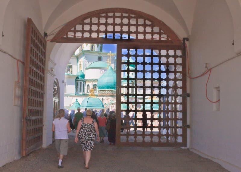 Wejście w Nowym Jerozolimskim monasterze Istra przypuszczenia katedralna dmitrov Kremlin Moscow pocztówkowa regionu Russia zima obrazy stock