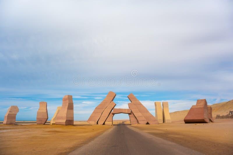 Wejście w parku narodowym Rasa Mohammed, Synaj, Egipt zdjęcie stock