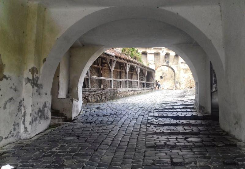 Wejście w Sighisoara cytadeli zdjęcie royalty free
