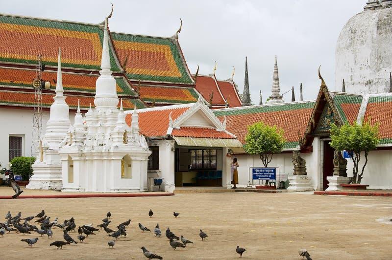 Wejście Wata Phra Mahathat Woramahawihan Buddyjska świątynia w Nakhon Sri Thammarat, Tajlandia zdjęcia stock