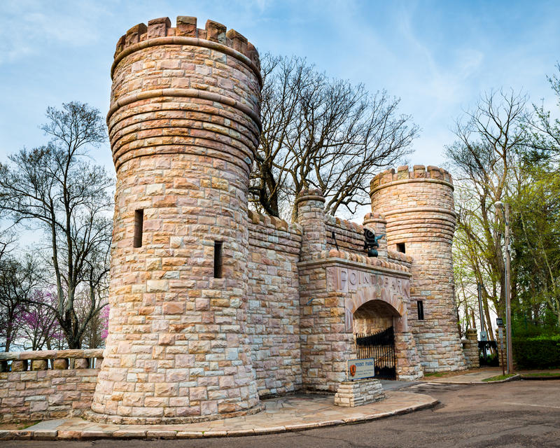 Wejście Wskazywać parka blisko Chattanooga, Tennessee zdjęcie stock