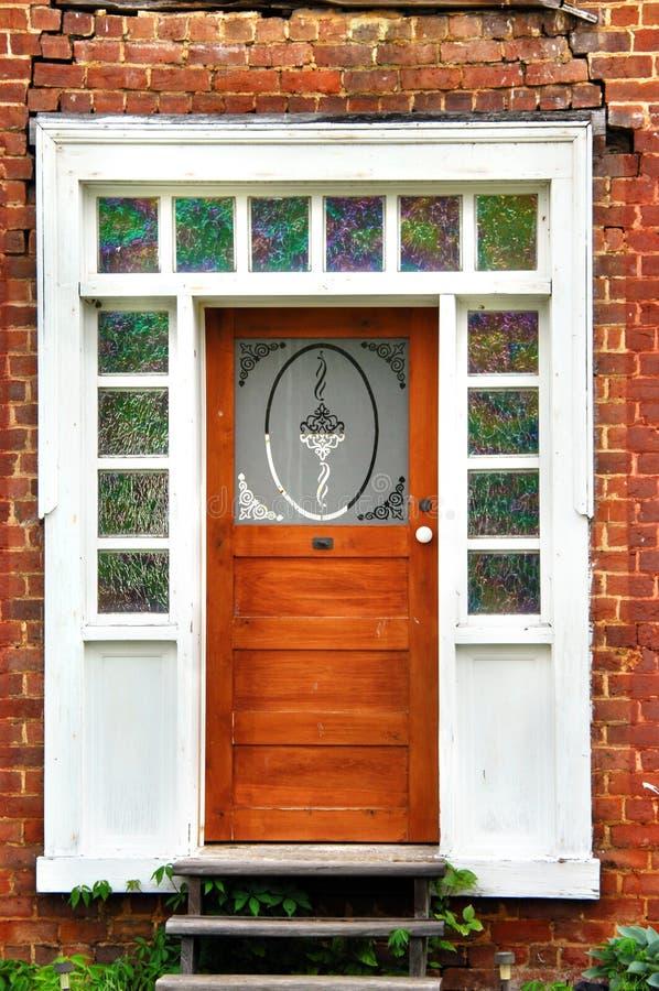 Wejście z witrażem fotografia royalty free