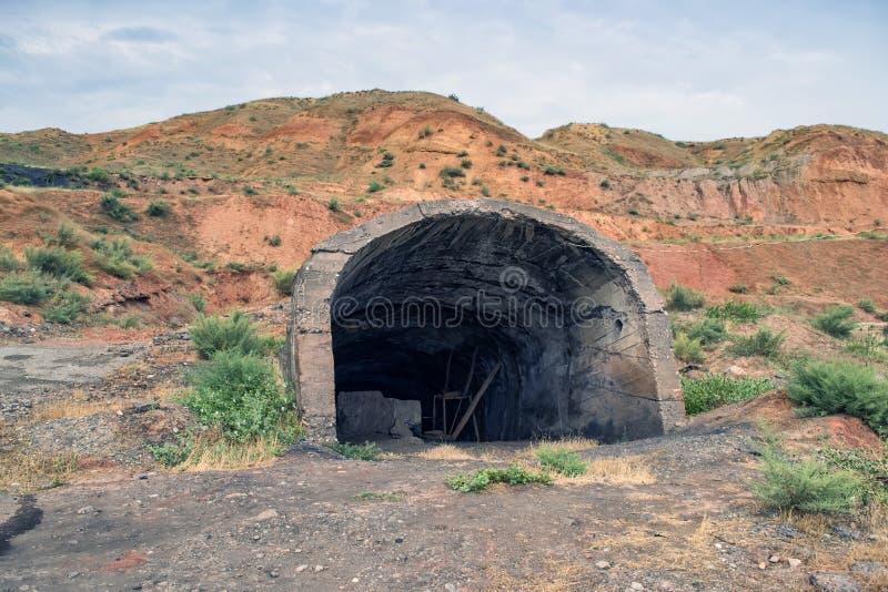 Wejście zaniechana kopalnia obraz stock