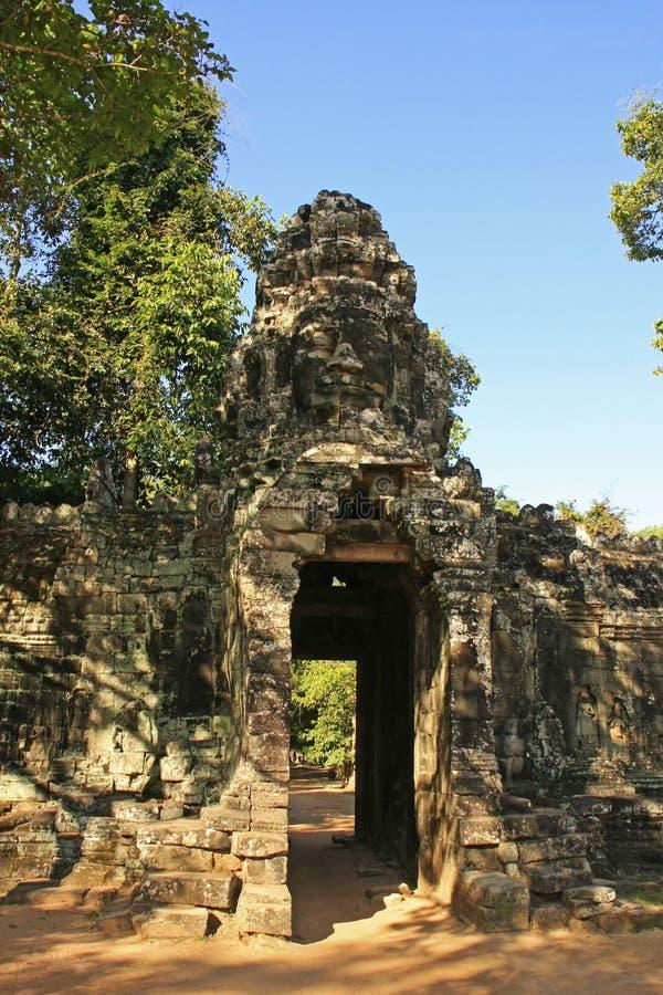 Wejściowa brama Banteay Kdei świątynia obraz stock