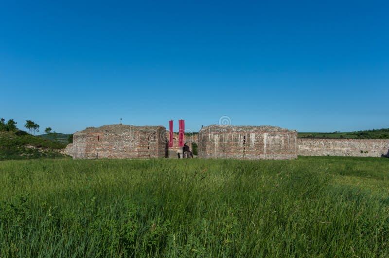 Wejściowa brama Felix Romuliana, antyczny Romański cesarz Galerius zdjęcia royalty free