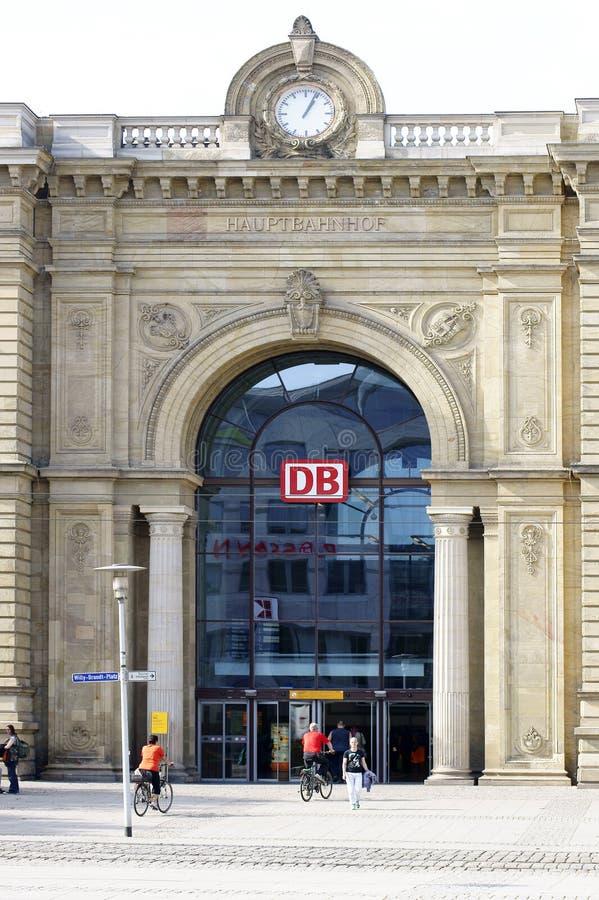 Wejściowa Magdeburska Główna stacja obrazy stock
