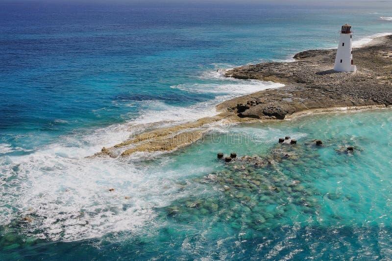 wejściowa strzeżenia schronienia latarnia morska Nassau obrazy stock