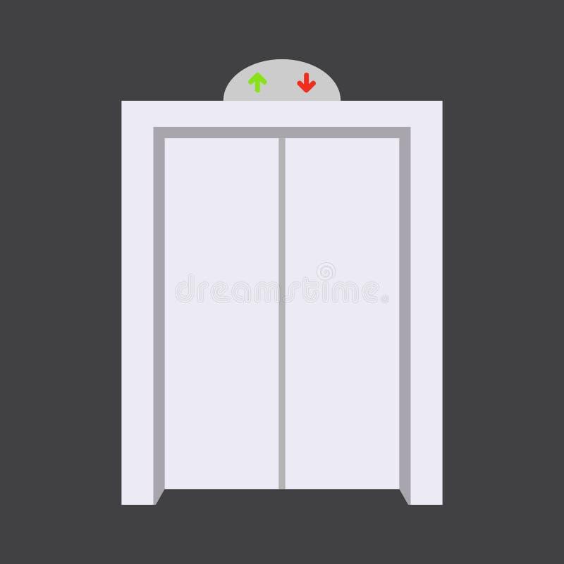 Wejściowego drzwi frontowy widok stwarza ognisko domowe i budynku wektorowy element w kreskówka stylu ilustracji
