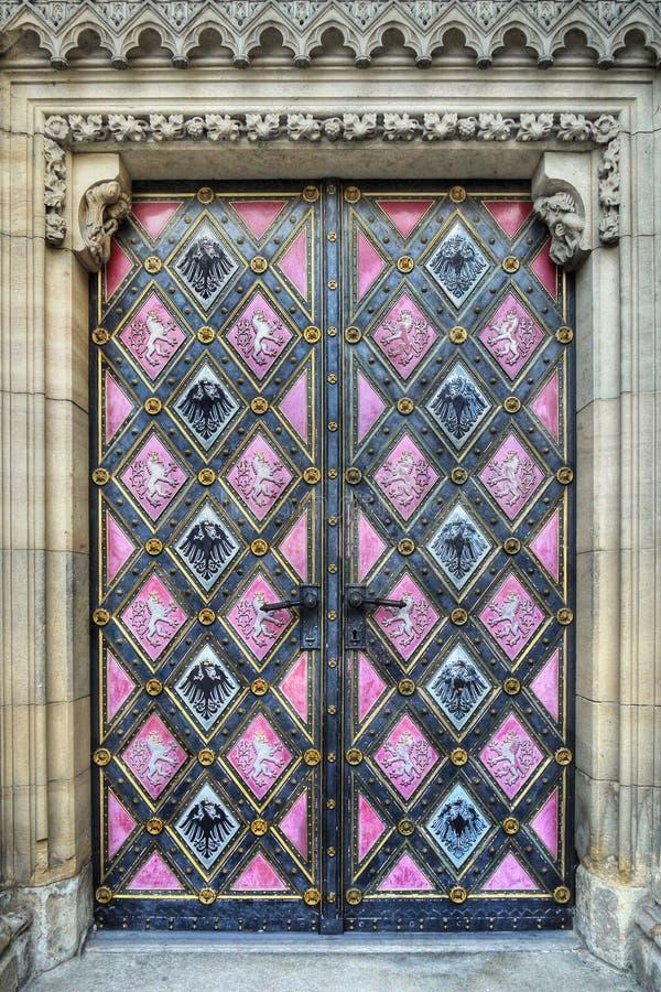 Wejściowego drzwi sztuki kościół fotografia royalty free
