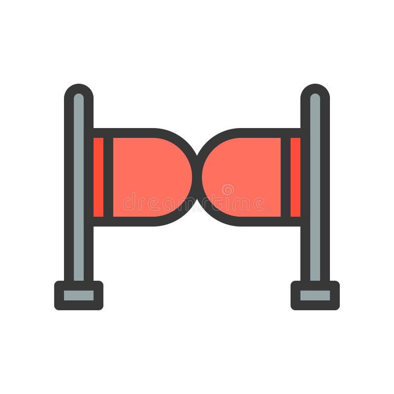 Wejściowej bariery wektorowa ikona, wypełniający konturu stylu editable stro ilustracji