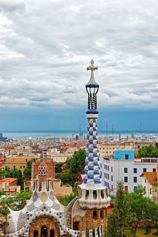 Wejściowy budynek w Parkowym Guell w Barcelona zdjęcie royalty free