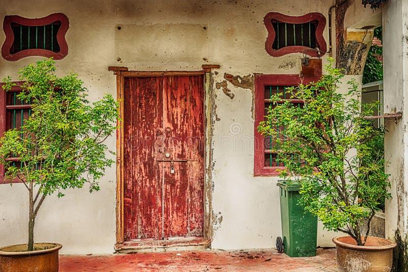 Wejściowy drzwi stary kolonisty dom w miasteczku Georgetown wewnątrz zdjęcie royalty free