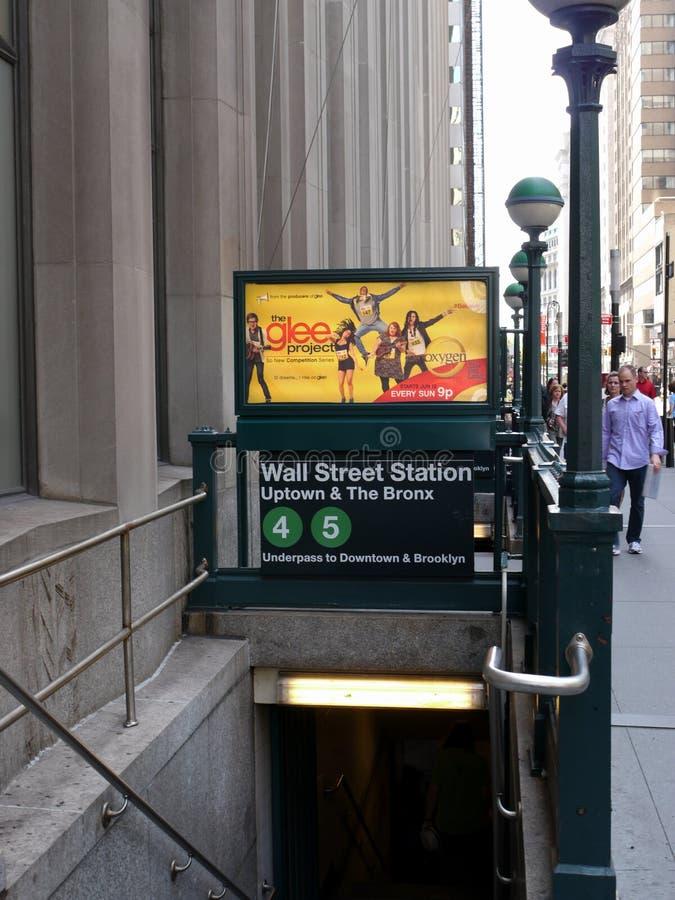 wejściowy nowy metro York fotografia stock