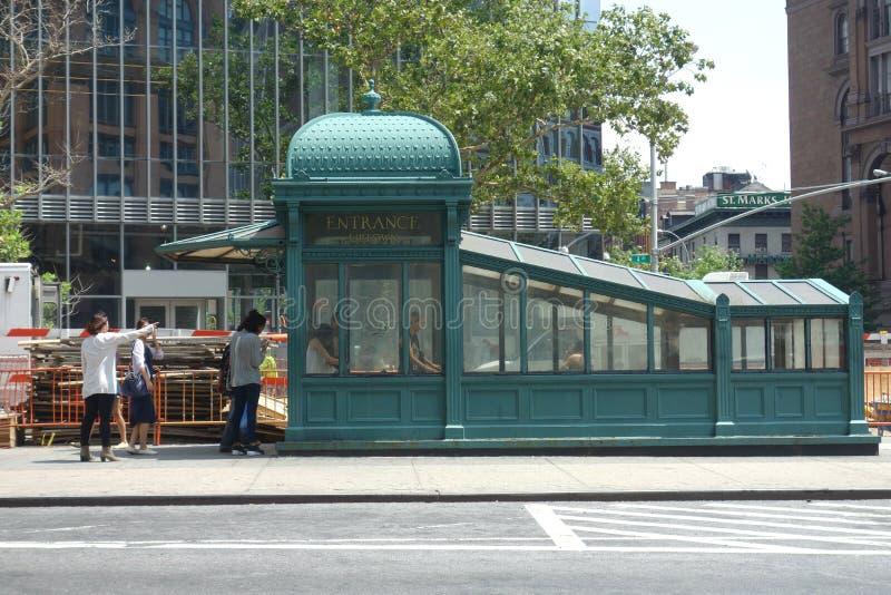 wejściowy nowy metro York obrazy royalty free