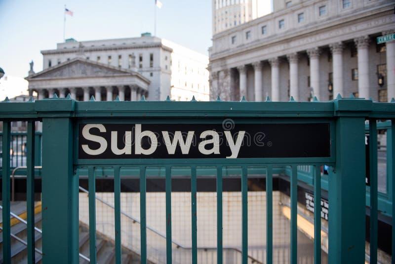 wejściowy nowy metro York zdjęcia royalty free