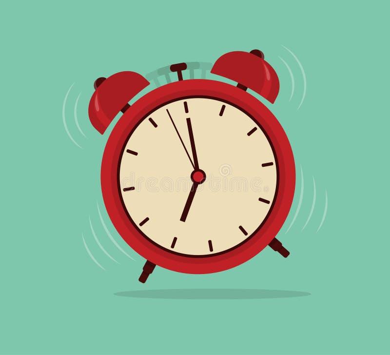 Wekker, activeringstijd stock illustratie