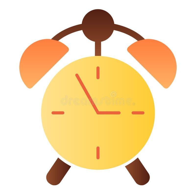 Wekker vlak pictogram De pictogrammen van de horlogekleur in in vlakke stijl De stijlontwerp van de tijdgradi?nt, voor Web dat en stock illustratie