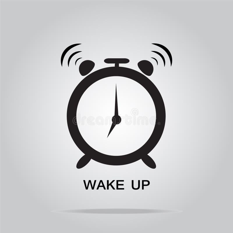 Wekkerteken, kielzog op pictogram royalty-vrije illustratie