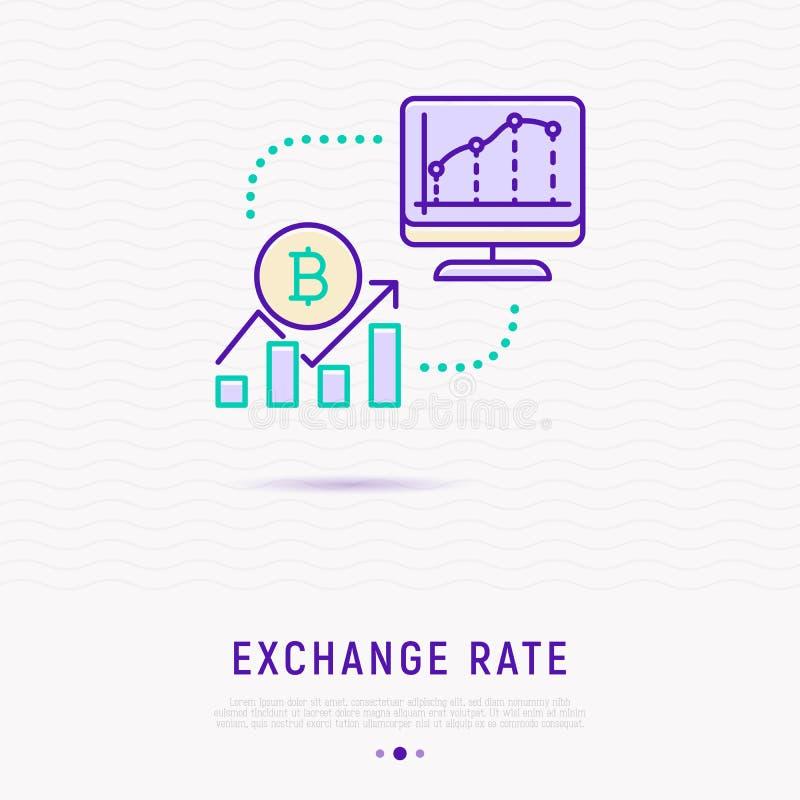 Wekslowego tempa pojęcie: grafika waluta przyrost ilustracji