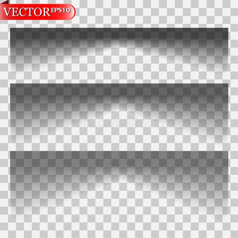 Wektorów cienie odizolowywający ilustracja wektor