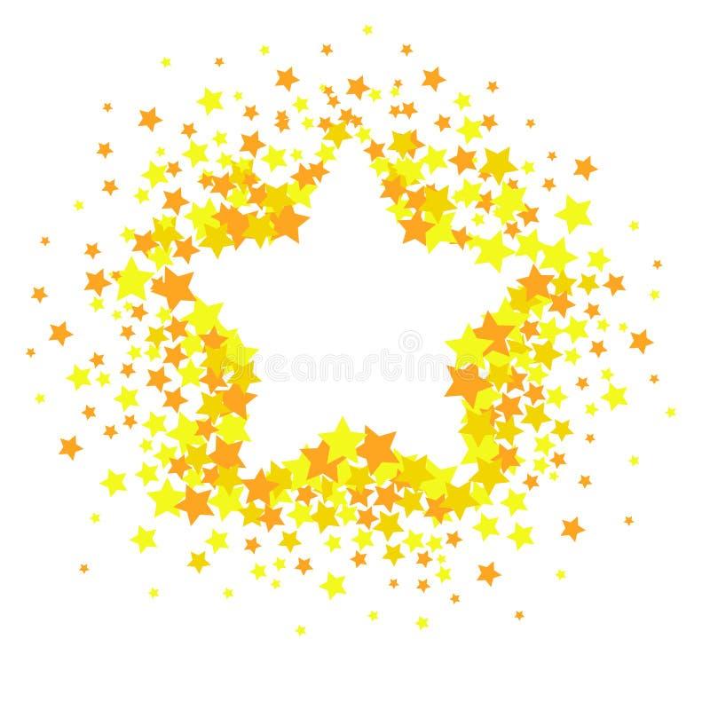 Wektorów confetti gwiazdowy pluśnięcie odizolowywający na białym tle Wzór z małymi gwiazdami Nowożytny Kreatywnie wzór ilustracja wektor