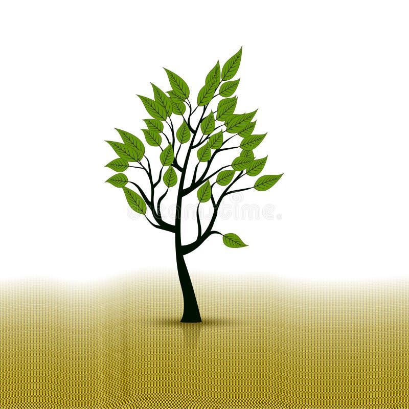 Wektor abstrakcjonistyczna drzewna ikona ilustracja wektor