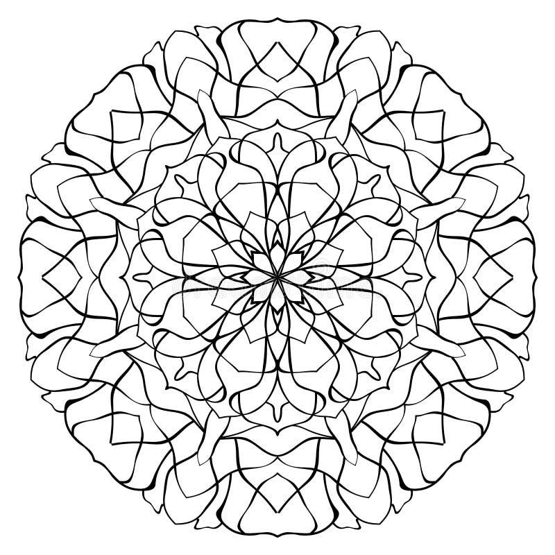 Wektor, abstrakt, konturowy mandala ilustracji