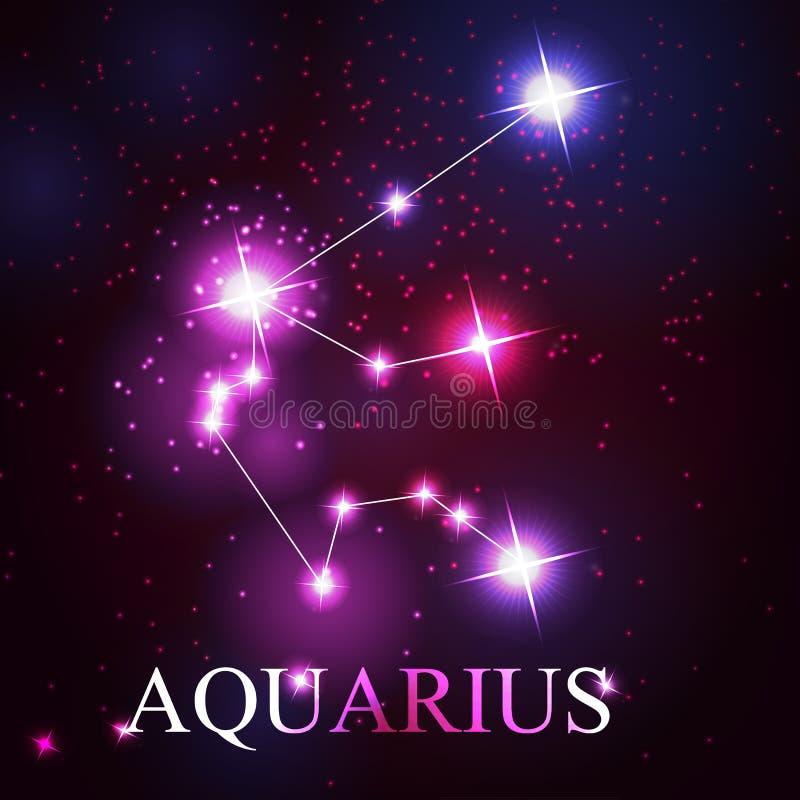 Wektor aquarius zodiaka znak ilustracja wektor
